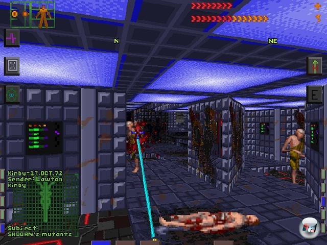 Eine andere, weitaus subtilere Form des Horrors gab es ein paar Monate nach Doom auf der Citadel Station zu durchleben: System Shock kombinierte Action, Schrecken und clevere Puzzles (die variantenreiche Einstellungsmöglichkeit des Schwierigkeitsgrades ist bis heute unerreicht!) mit dem unbehaglichen Gefühl einer omnipräsenten Gefahr - hier in Form der durchgeknallten Computerintelligenz Shodan. Tipp für Nostalgiker: So großartig wie die normale Version des Spiels auch war, die ein paar Monate danach veröffentlichte CD-Version war mit detaillierter SVGA-Grafik, durchgehender Sprachausgabe und weitaus besseren Soundeffekten nochmal so gut! System Shock blieb lange, laaaange Zeit unerreicht - erst 1999 gab es einen würdigen Nachfolger, und erst in heutigen Tagen mit BioShock oder Dead Space geistige Erben. 1922558