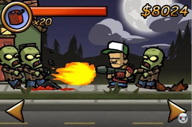 <b>Bester Sidescroller: Zombieville USA</b><br><br>Mit Magnum, Schrotflinte, Raketenwerfer, dickem Bratzlaser oder Kettens�ge gegen wilde st�hnende Zombies - was gibt es daran nicht zu lieben? Zombieville USA verpackt das morbide Thema in herrlich alberne Comicgrafik und garniert das Ganze mit einer wunderbar simplen Steuerung.<br><br>Ebenfalls empfehlenswert: Bounce On, Blade of Betrayal, Heavy Mach<br><br> 1950698