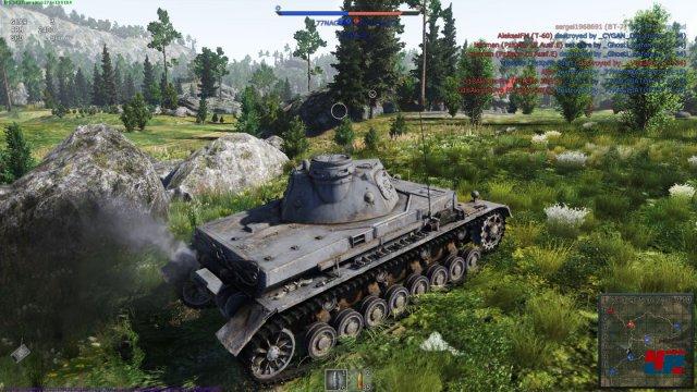 Hübsch: Auch am Boden macht die Engine von War Thunder eine tolle Figur.
