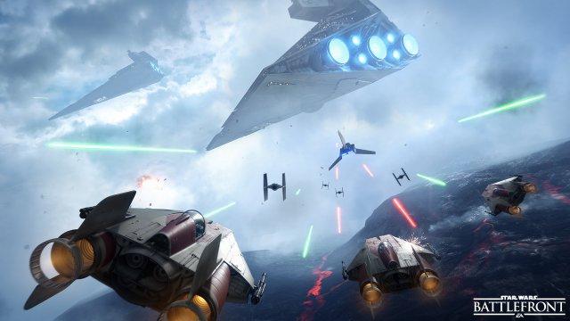 Wenn es die A-Flügler schaffen, die Transportfähre des Imperiums abzufangen, gibt es 20 Punkte für das Team. Aber die Tie-Fighter haben noch ein Wörtchen mitzureden.
