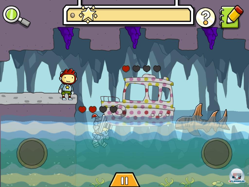 Hackt man ein Wort in die Tastatur, erscheint das entsprechende Objekt: Hier kämpft ein wütendes gepunktetes Boot gegen seinen Ritter.