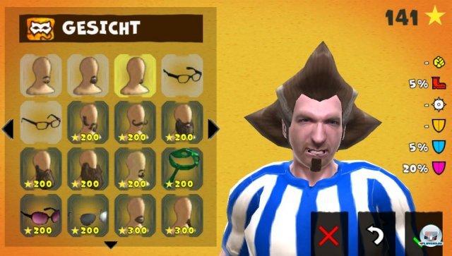 Der Editor ist das Highlight des Spiels: Hier gibt es wahnsinnig viele, wahnsinnig wahnsinnige Frisuren und Klamotten zu entdecken.