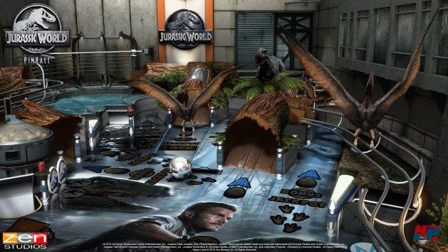 Auf dem Tisch zu Jurassic World kann man sich wie bei Aliens entscheiden, ob man die Missionen in Filmreihenfolge oder frei wählbar bewältigen möchte.
