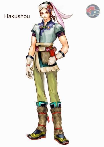 Hakushou stammt aus demselben Nomadendorf wie Shiga und ist sein bester Freund. Er ist etwas ruhiger und überlegter als Shiga und ergänzt ihn dadurch. 19304