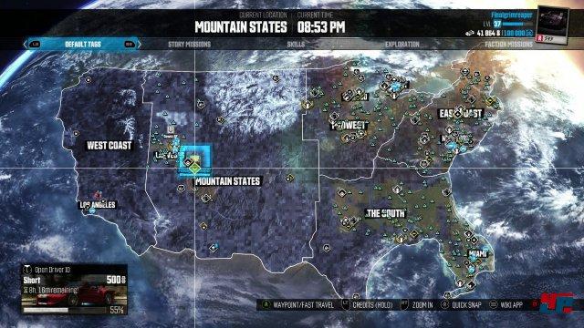 Die Spielwelt ist riesig: Es warten über 5000 Quadratkilometer komprimierte USA auf ihre Erkundung-