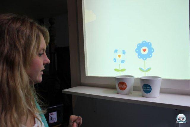 Ebenfalls vertreten: Virtuelle Blumenpflege mit einem realen Gießkannen-Controller. 92469142