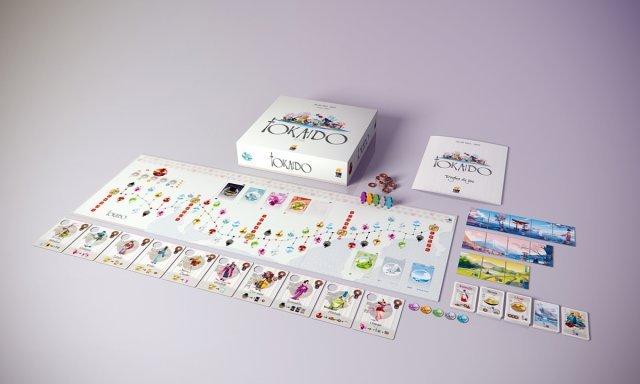 Tolles Artdesign und einer der Verkaufsrenner auf der Brettspielmesse in Essen: Tokaido.