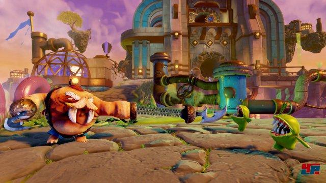 Die Kulisse hat auf PS4 und Xbox One nochmals an Klasse gewonnen, das Fallen-System wurde technisch sehr gut integriert.
