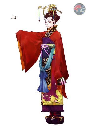 Ju ist ein junges Hexenkind, das mit der Kownloon-Gruppe zusammenarbeitet und sich gegen Shiga und seine Freunde stellt. 19286