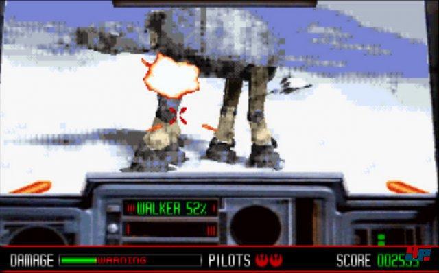 Die Schlacht von Hoth war ebenfalls Bestandteil von Rebel Assault. Der Todesstern stand aber erst danach auf der Abschussliste.