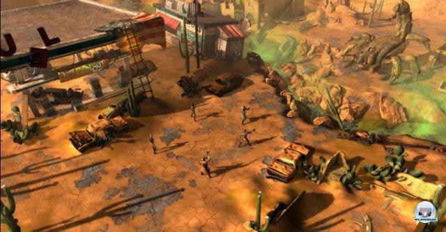 <b>Wasteland 2 (Multi)</b><br><br> Nach Double Fine gehörte auch inXile zu den ersten Gewinnern der Kickstarter-Euphorie. Dank der Netzgemeinde konnte endlich ein Nachfolger zum Rollenspiel-Klassiker Wasteland gestartet werden, nachdem er bei den Publishern abgeblitzt war. Wie im Original dient eine vom Atomkrieg zerstörte Welt als Szenario. Auch einige Entwickler von Obsidian Entertainment wie Chris Avellone sind eingebunden. Da das Spiel nicht für den Massenmarkt gedacht sei, müsse man keinerlei mit Publishern übliche Kompromisse eingehen, erklärte Brian Fargo. Die Entwickler wollen das Spiel noch in diesem Oktober fertigstellen. 92434402